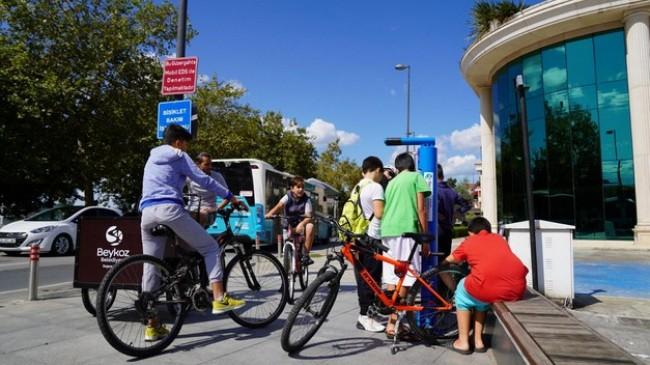 Beykoz'da Bisiklet Tamir İstasyonu Kuruldu