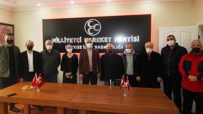 Beykoz Kulüpler Birliği MHP İlçe Teşkilatını Ziyaret Etti