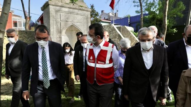 İmamoğlu Beykoz Anadolu Hisarı'nda, incelemelerde bulundu