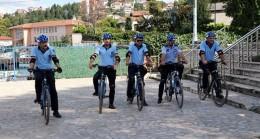 Beykoz sahillerinde bisikletli zabıtalar iş başında
