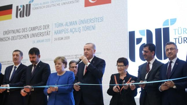 Erdoğan ve Merkel Beykoz'da açılış yaptı