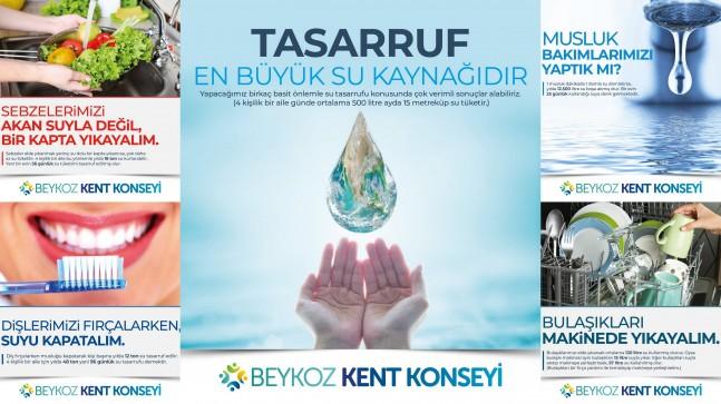 Beykoz Kent Konseyi Beykoz Halkını Suyu Tasarruflu Kullanmaya Çağırdı