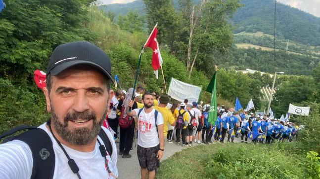 Dilmaç, Srebrenitsa'da gerçekleşen soykırımın ölüm yürüyüşüne katıldı